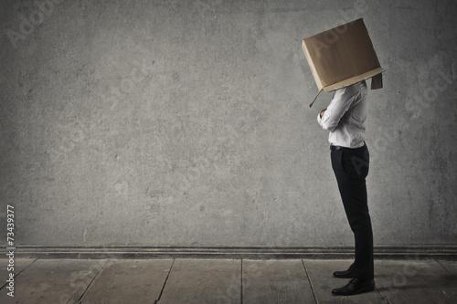 Obraz na płótnie Head in the box