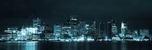 Boston Skyline By Night From E...