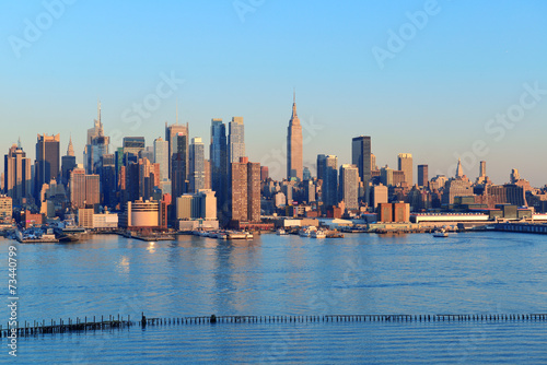 Poster New York New York City sunset