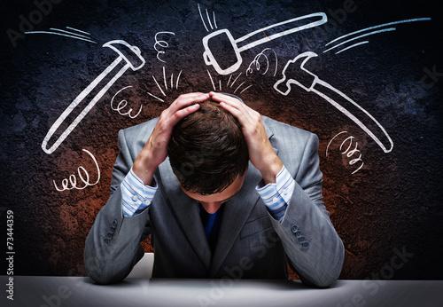 Fotografía  Hombre de negocios preocupado