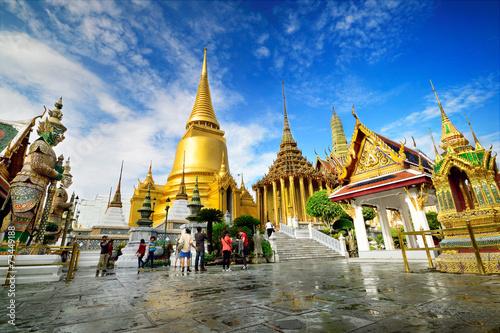 Ingelijste posters Bangkok Wat Phra Kaeo, Bangkok, Thailand