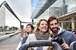 canvas print picture - bus tour of city