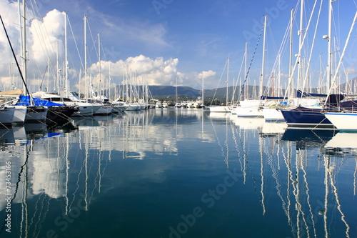 Foto op Plexiglas Water Motor sporten View Across the Marina