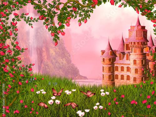 Fairy tale landscape Poster
