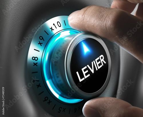 Cuadros en Lienzo Bourse concept - Effet de levier
