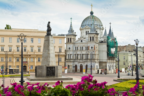 Freedom Square (Plac Wolnosci) in the city of Lodz, Poland