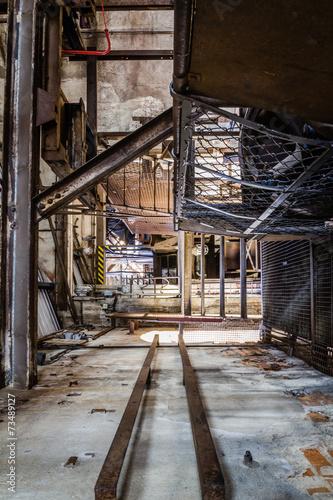 Canvas Prints Narrow alley rusty industrial ruine
