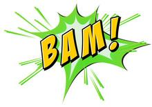 Bam Flash On White