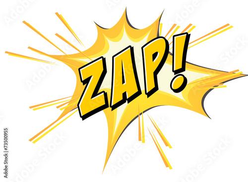 Obraz Zap flash on white - fototapety do salonu