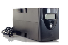 Uninterruptible Power Supply (UPS) Isolate On A White Background With Copy Space. Clipping Path In Picture.