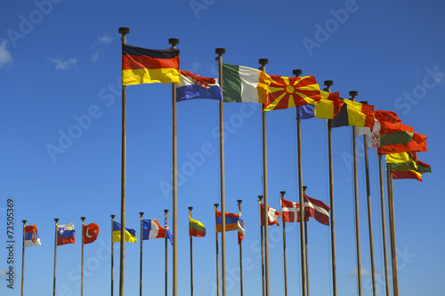 Cuadros en Lienzo  business background of international flags