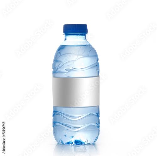 Fotografia  Water bottle with blank label Isolated , Water Bottle Mockup