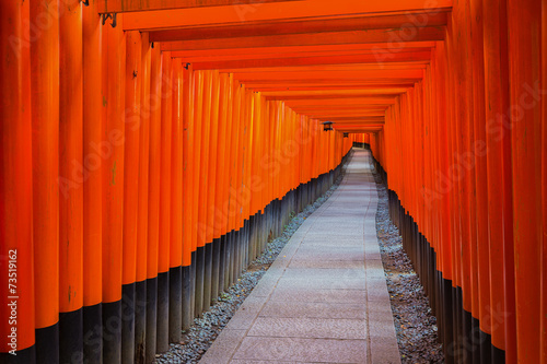 Fushimi Inari Shrine on in Kyoto, Japan.