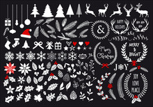 White Christmas Set, Vector De...