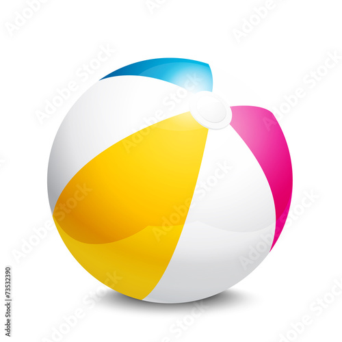 In de dag Bol Beach ball