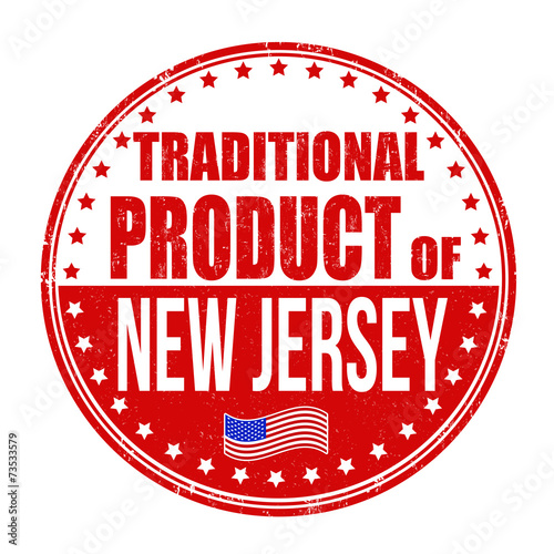 Traditional Product Of New Jersey Stamp