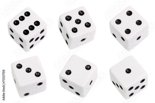 Photo White dice