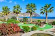 Public gardens on coast of Fuerteventura island, Las Playitas