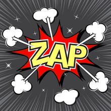 Zap Speech Bubble, Vector Format