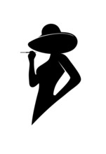 Silhouette Of The Glamorous Lady