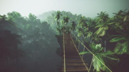 Fototapeta tropikalny mostek podwieszany