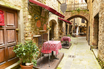 Fototapeta Toskania Restaurant in Tuscany