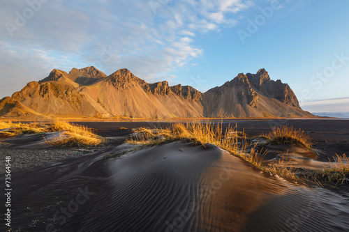 Cadres-photo bureau Marron chocolat Stockness, Islande
