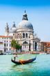 Gondola on Canal Grande with Santa Maria della Salute, Venice