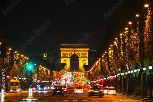 The Arc de Triomphe de l'Etoile in Paris Wallpaper Mural