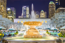 Bryant Park Fountain In New Yo...