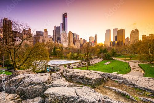 Fotografía Central Park at Dusk in New York City