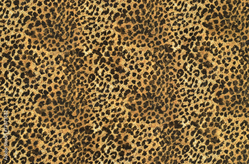 Poster Leopard Brown and black leopard pattern.Spotted animal print background.