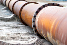 Close-up Of A Corroded Pipeline