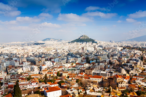 Foto op Plexiglas Athene Panorama of Athens, Greece