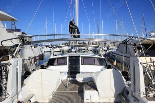 Foto op Plexiglas Water Motor sporten Cockpit of a Yacht