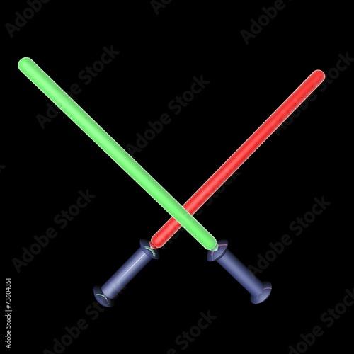 Fotografie, Tablou  Laser swords