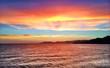 Leinwandbild Motiv Sonnenuntergang in Pismo