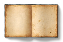 Old Open Book Empty Pages