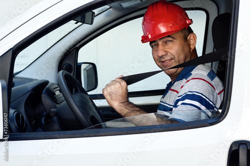 Fotografía  Portrait of van driver