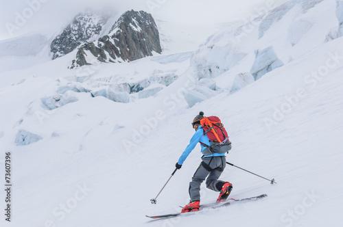 spektakuläre Kulisse zum Skifahren Canvas-taulu
