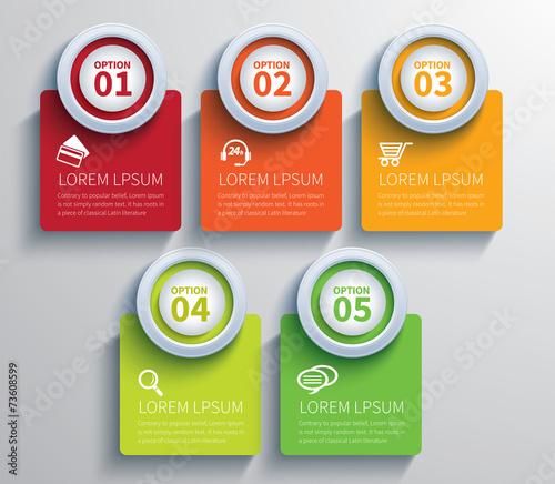 Fotografie, Tablou  paper circle  infographic