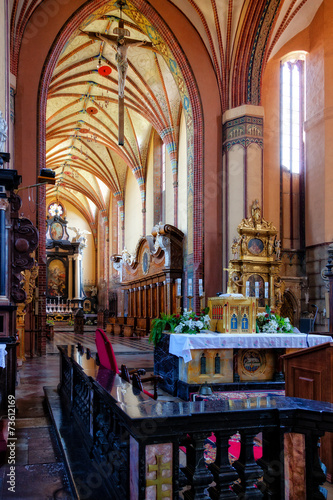 obraz dibond Church interior in Frombork, Poland.