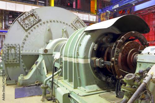 Staande foto Industrial geb. Power plant generator