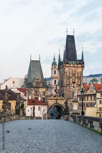 Ingelijste posters Praag チェコ プラハ カレル橋 Charles Bridge Prague