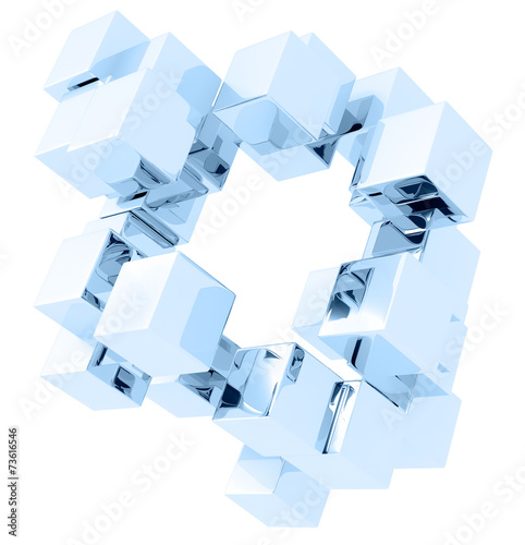 fototapeta na szkło glass cubes