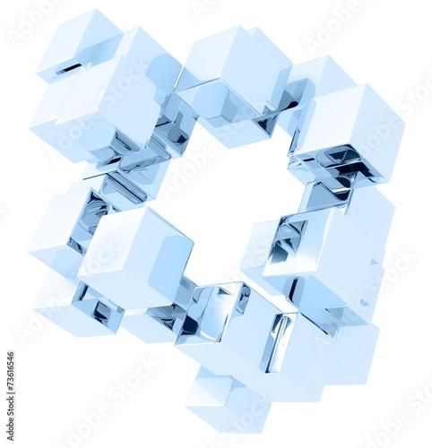 obraz dibond glass cubes