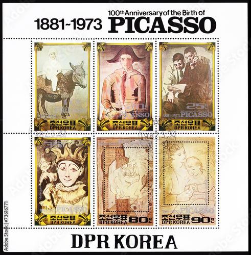 Cuadros en Lienzo  Pablo Picasso Stamp