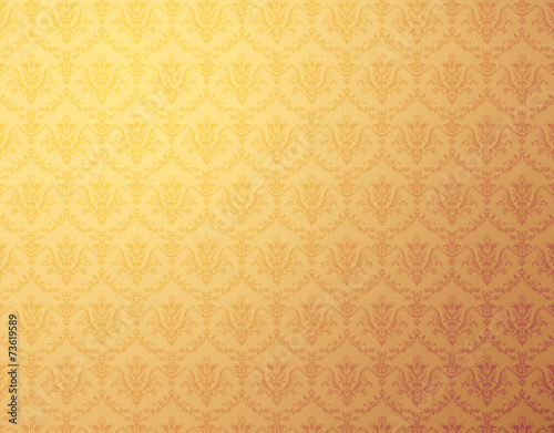 kwiatowy-wzor-zlota-tapeta