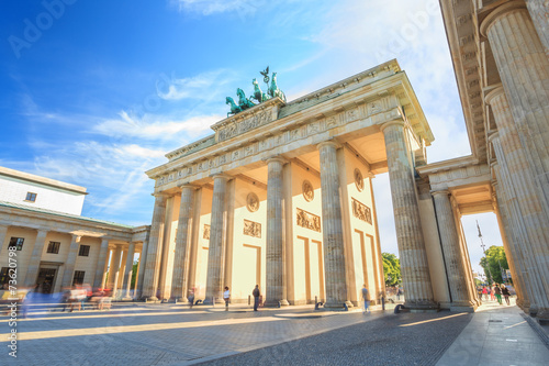 Photo sur Toile Europe Centrale sunset at Berlin Brandenburg Gate of Germany