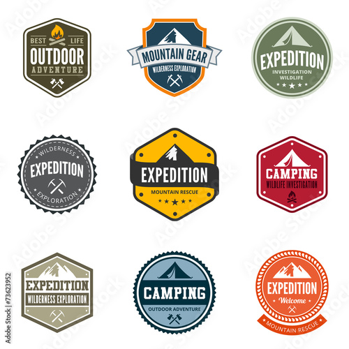 Fotografía  Adventure Tourism Travel Logo Vintage Labels design